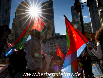 Eritrea Fahnen New York City