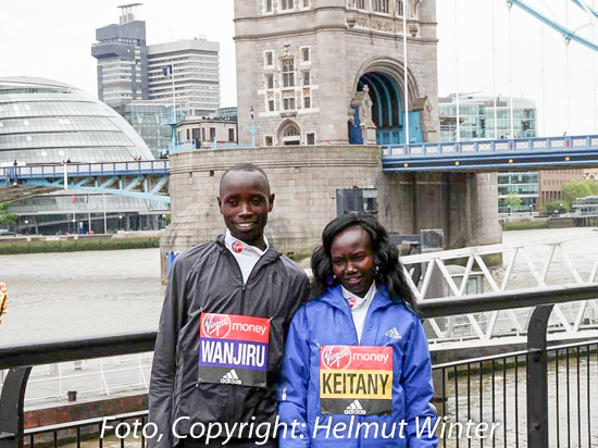 Mary Keitany Daniel Wanjiru London 2017